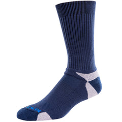 mens's tour standard navy blue performance merino wool crew socks