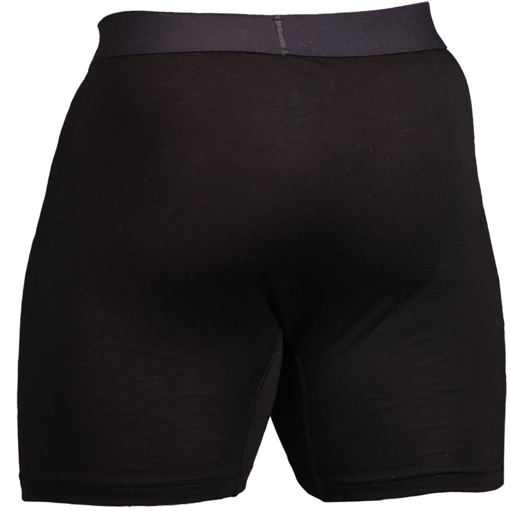 Black Merino Wool Boxers