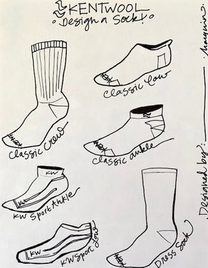 Kentwool Coloring Sheet </br> Design a Sock