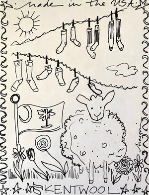 Kentwool Coloring Sheet </br> Made in the USA