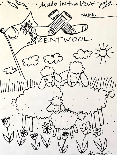 Kentwool Coloring Sheet </br> Sheep Family