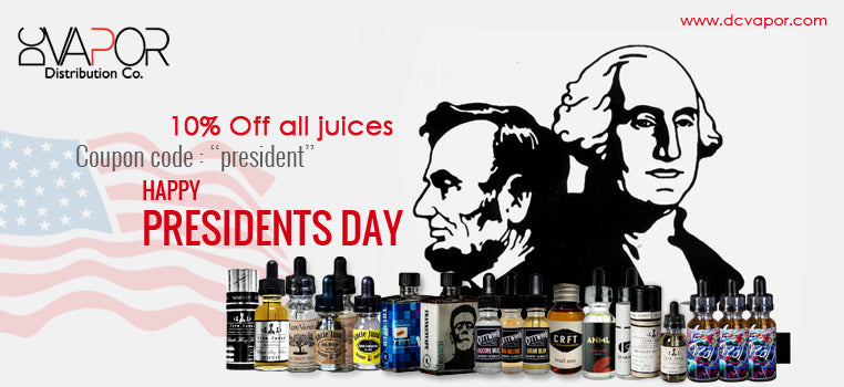 president day offer on e-liquid