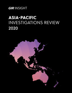 Asia-Pacific Investigations Review 2020