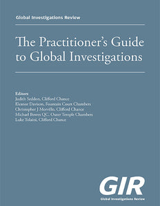 GIR's Practitioner's Guide to Global Investigations - Special discount