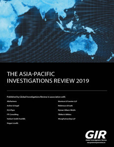 The Asia-Pacific Investigations Review 2019
