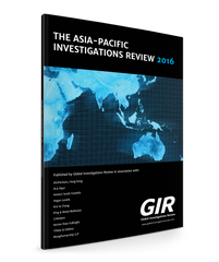 The Asia-Pacific Investigations Review 2016