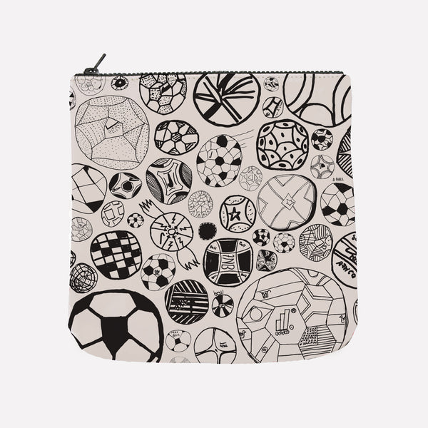 Football Zipper Pouch