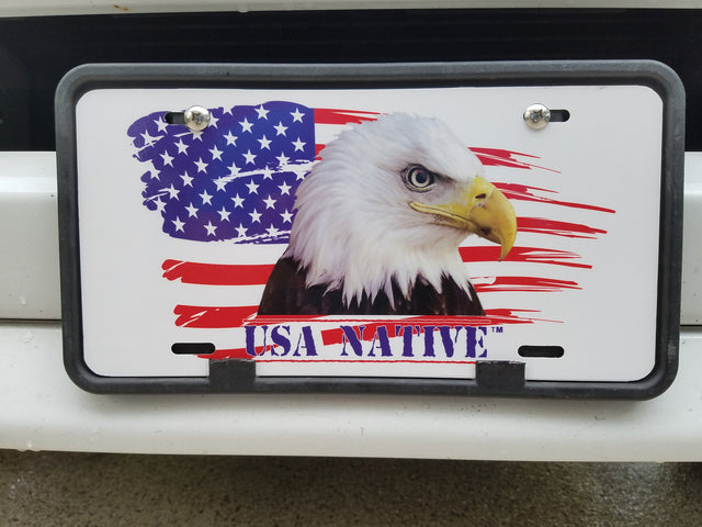 USA Native Eagle License Plate