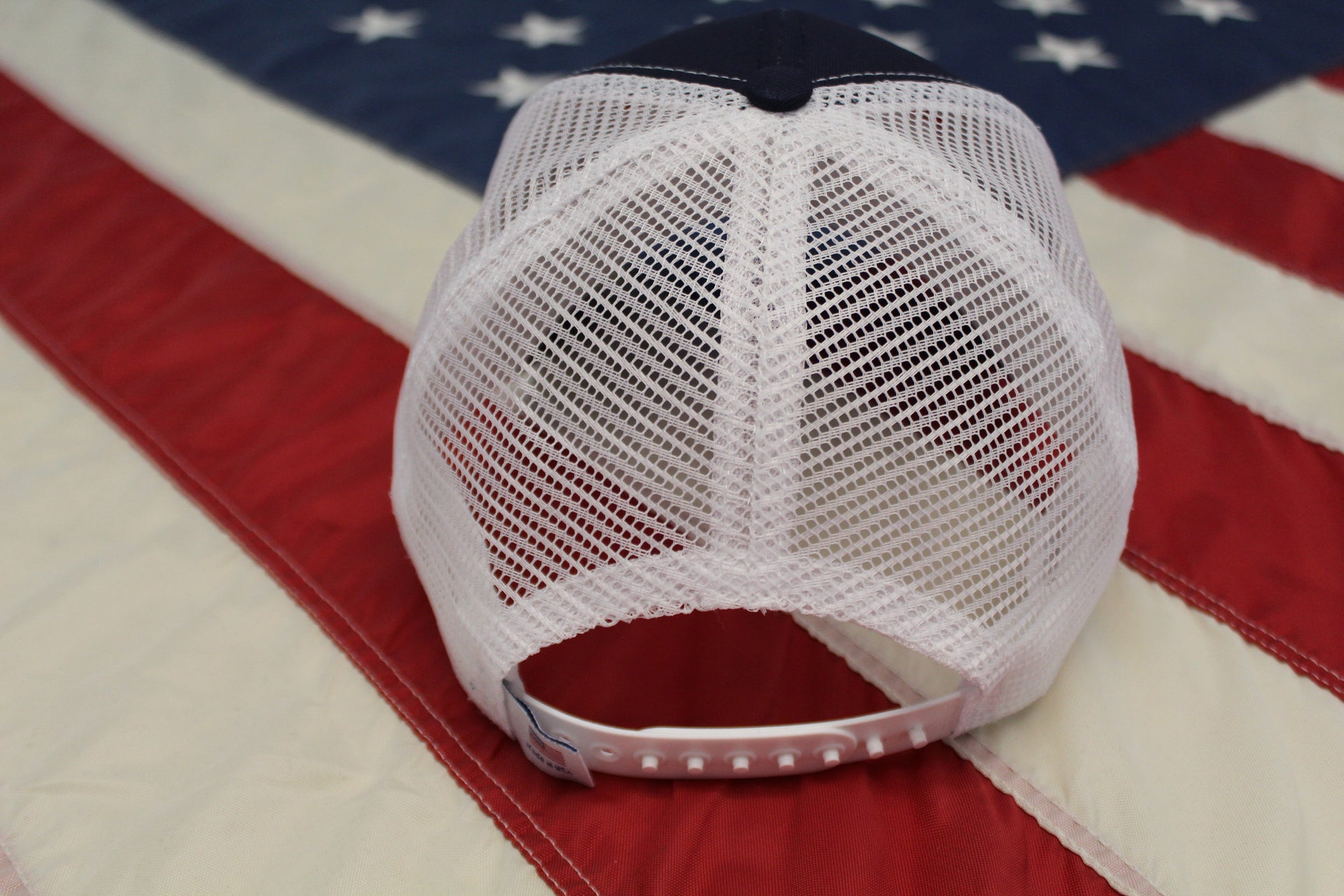 American Nothing Else! Cap - Navy and White Mesh