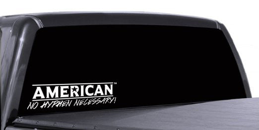 "American No Hyphen Necessary! 12"" Decal"