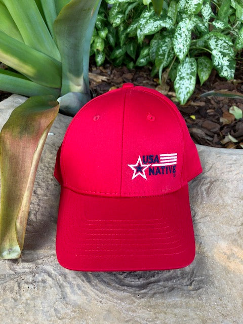 USA Native Cap - Red