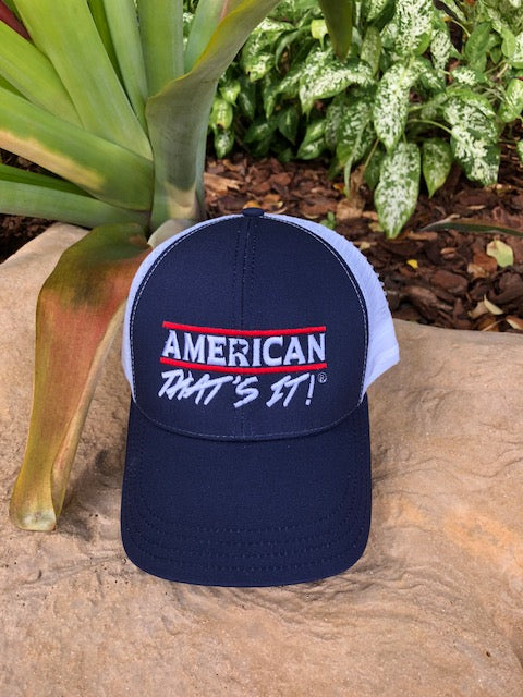 American That's It! Cap - Navy and White Mesh