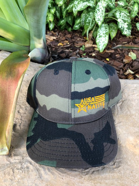 USA Native Cap - Woodlands Camo