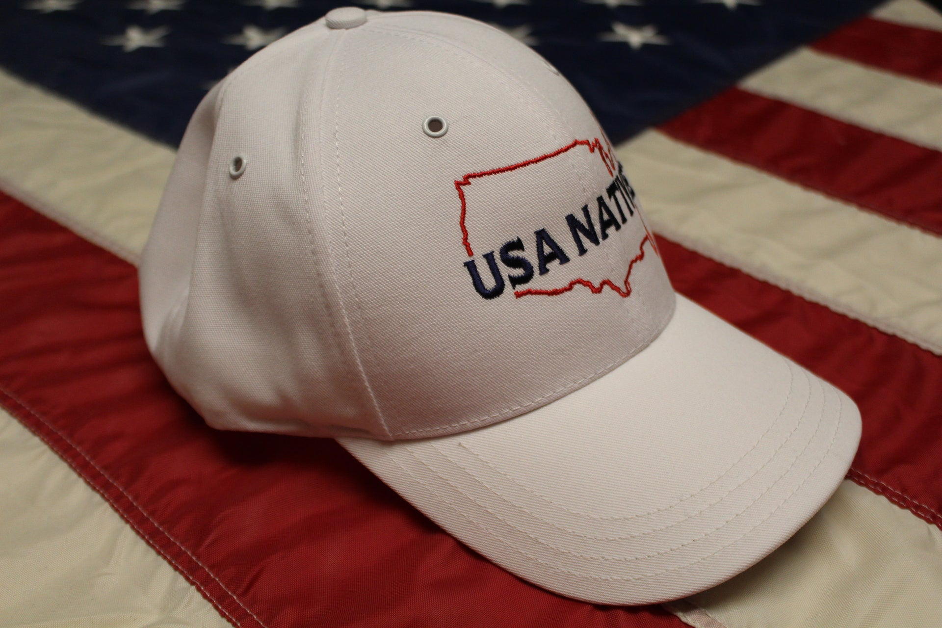 USA Native with US Outline Cap - White