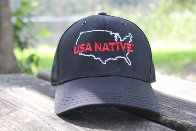 USA Native with US Outline Cap - Black