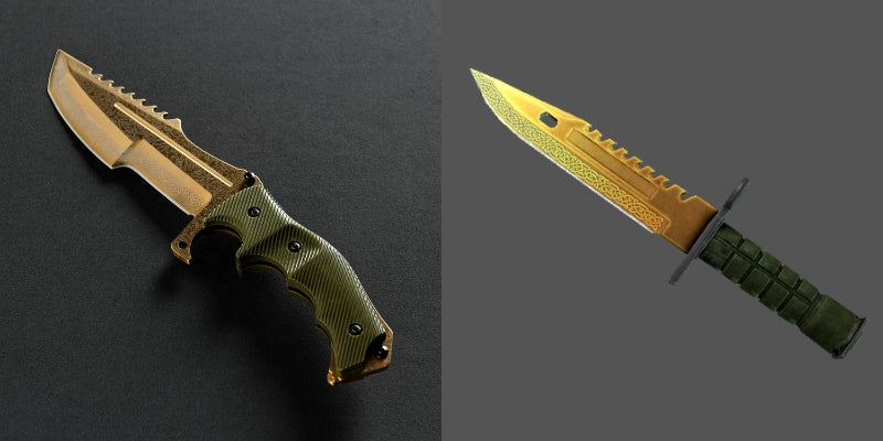 Lore Huntsman CSGO Knife Skin Comparison