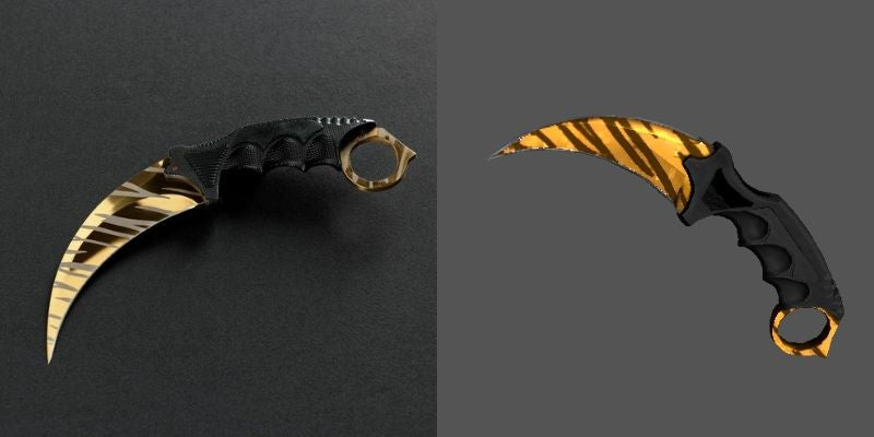 Tiger Tooth Karambit 2.0 CSGO Knife Skin Comparison