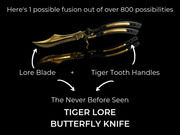 Battle-Scarred Fusion Butterfly Knife Loot Box Elemental Knives Loot Box Skins