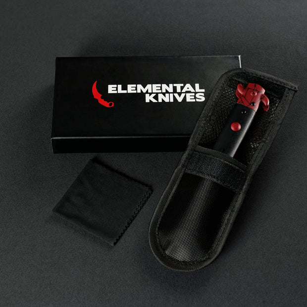 Crimson Web Stiletto Flip Knife Elemental Knives Stiletto Knife Skins