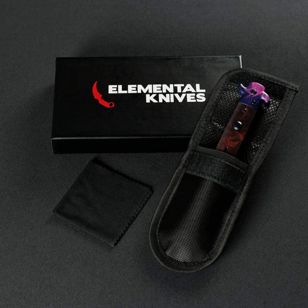 Doppler Phase 2 Stiletto Flip Knife Elemental Knives Stiletto Knife Skins