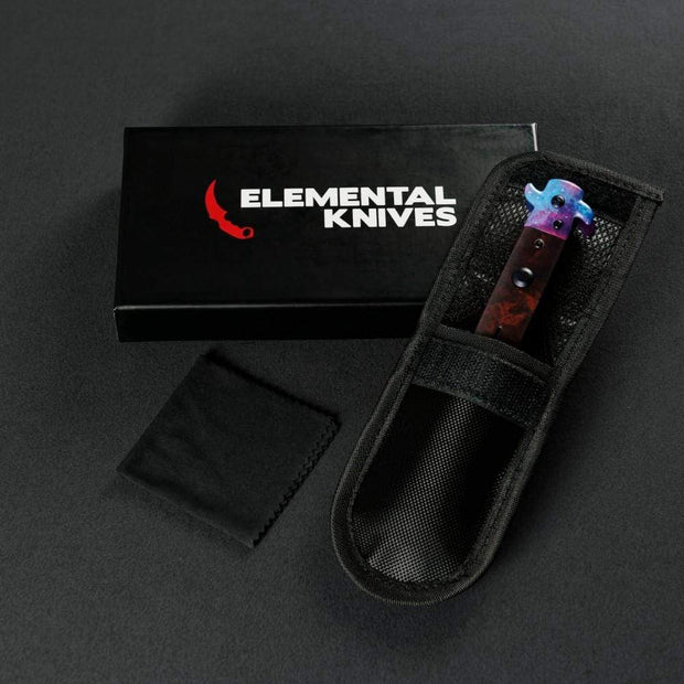 Galaxy Stiletto Flip Knife Elemental Knives Stiletto Knife Skins