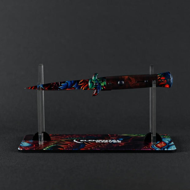 Hyper Beast Hydro Stiletto Flip Knife Elemental Knives Stiletto Knife Skins