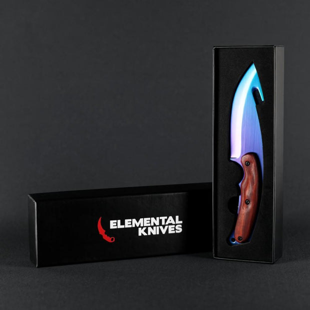 Rainbow Fade Gut Knife Elemental Knives Gut Knife Skins
