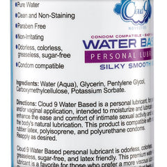 Cloud 9 Water-Based Personal Lubricant
