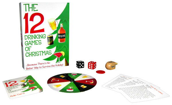 12 Drinking Games Of Christmas from Kheper Games