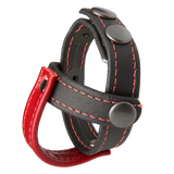 Kink Leather Sub Presenter Black Red Cock Cage