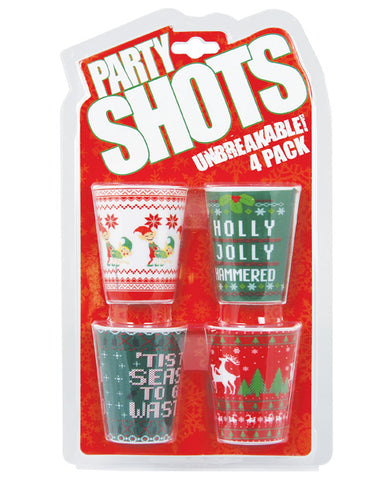 Party Shots Holiday Positions - Pack of 4