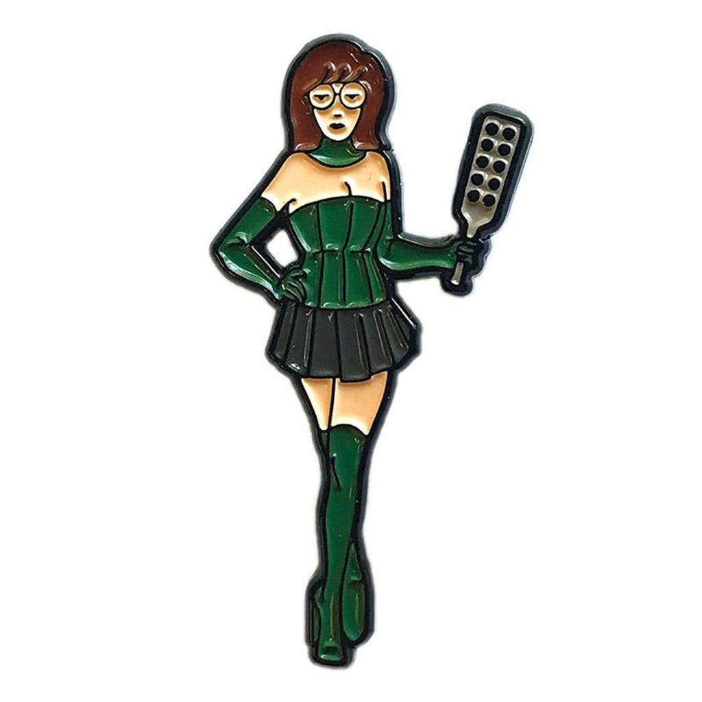 Geeky & Kinky Mistress D Paddle Pin