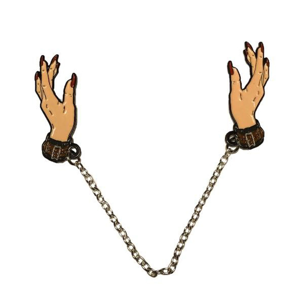 "Geeky & Kinky Chains of Love Hands 7"" Duo Pin"