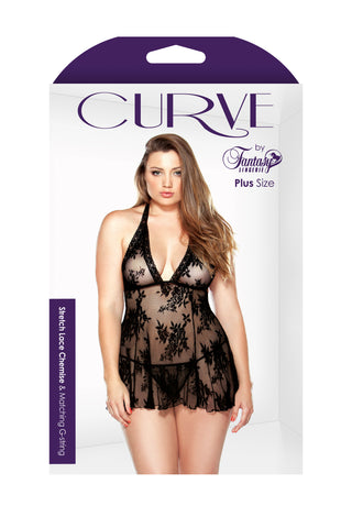 Curve Lace Chemise and G String