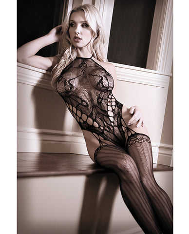 Halter Cage Teddy Bodystocking