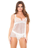 Isla Lace & Net Babydoll With Matching Panty