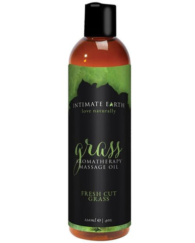 Intimate Earth Grass Massage Oil Massage Lotion 4 oz.