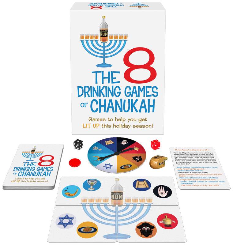 8 Drinking Games Of Chanukah from Kheper Games