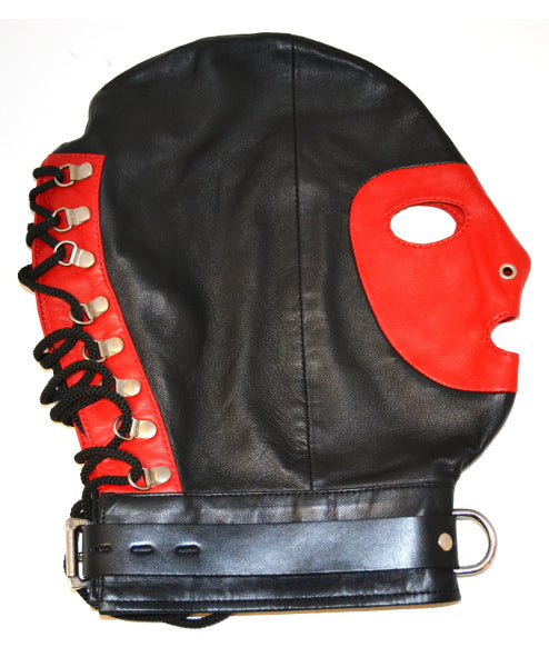 D-Ring Mask Black & Red from Rouge Garments