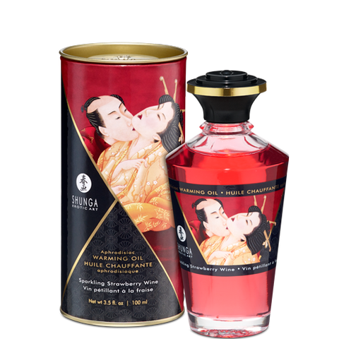 Shunga Erotic Art Aphrodisiac Warming Massage Oil, 3.5 ounces