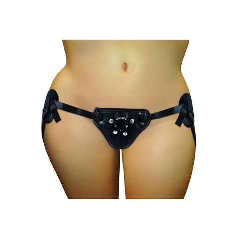 Ss Plus Black Pvc Corsette Strap-On