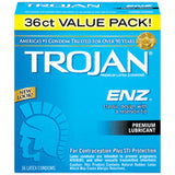 Trojan Enz Lubricated Condoms - Box of 3