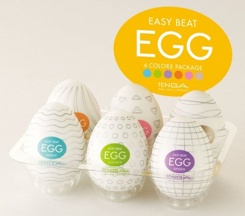 TENGA Easy Beat Egg Six Color Masturbator Six Pack  Masturbator