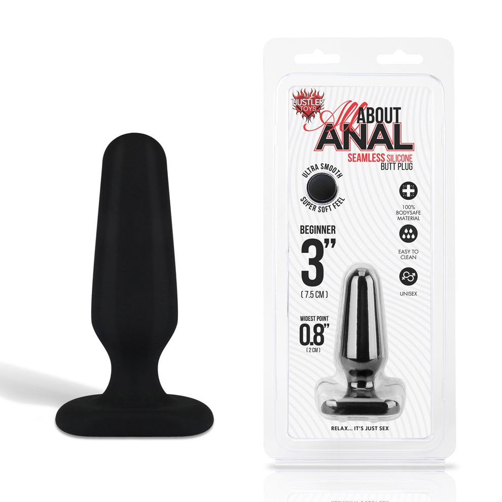Hustler Toys All About Anal Seamless Silicone Butt Plug small