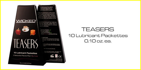 Wicked Teasers 10 Lubricant Packettes