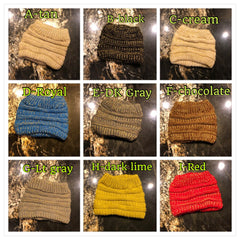 BUY 1 and GET 1 FREE        BEST EVER MESSY BUN BEANIE