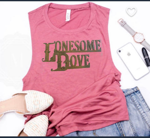 Tank top pink lonesome dove