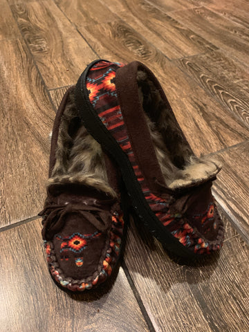 Fur lined moccasin Aztec Steerhead
