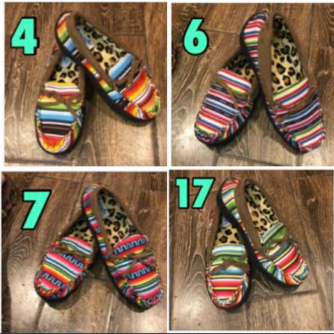 LAST CALL ON SERAPE AND AZTEC MOCCASINS *SIZE 10 only*