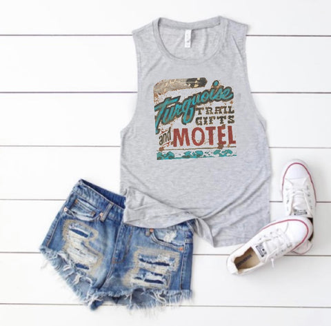 Tank top turquoise motel